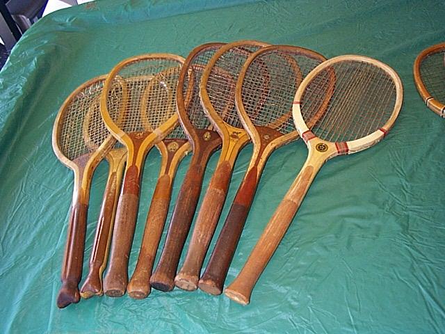 fistail, fantail & bulbous handle tennis rackets